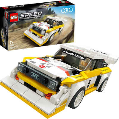 LEGO® Konstruktionsspielsteine »1985 Audi Sport quattro S1 (76897), LEGO® Speed Champions«, (250 St), Made in Europe