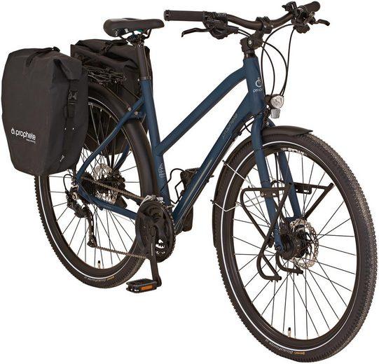 "Prophete Trekkingrad »ENTDECKER 20.BTT.10 Trekking-Bike 28""«, 24 Gang Shimano Shimano Altus Schaltwerk, Kettenschaltung, (mit Packtaschen)"