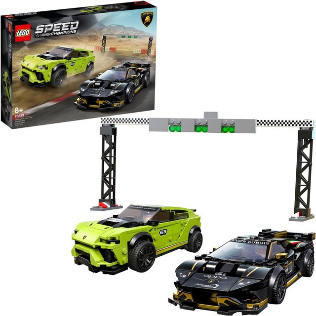 Image of 76899 Speed Champions Lamborghini Urus ST-X & Lamborghini Huracán Super Trofeo EVO, Konstruktionsspielzeug