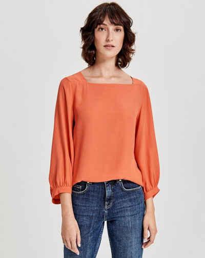 Damen Bluse weiß mit kleinen Bestickungen von Aniston Gr.36