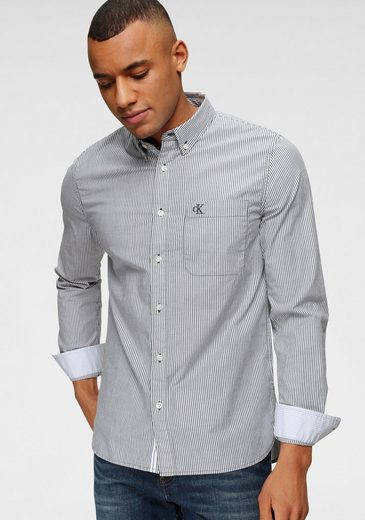 Calvin Klein Jeans Langarmhemd »WASHED STRIPE STRETCH SHIRT«