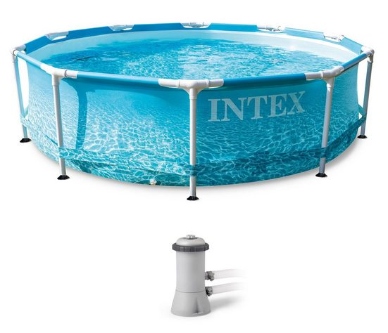 Intex Framepool »Beachside« (Set), ØxH: 305x76 cm