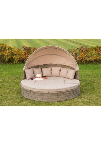MERXX Sodo sofa-lova »Riva« Alu-Gestell/Poly...