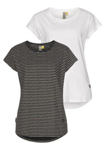 Alife & Kickin Rundhalsshirt »MimmyAK 2P« (Packung, 2-tlg) modische Basic-Shirts im Doppelpack