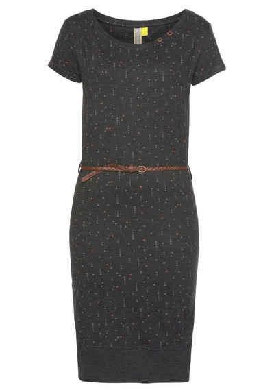 Alife & Kickin Jerseykleid »CocoAK« (Set) Sommerkleid in Knielänge - mit kleinem Flechtgürtel