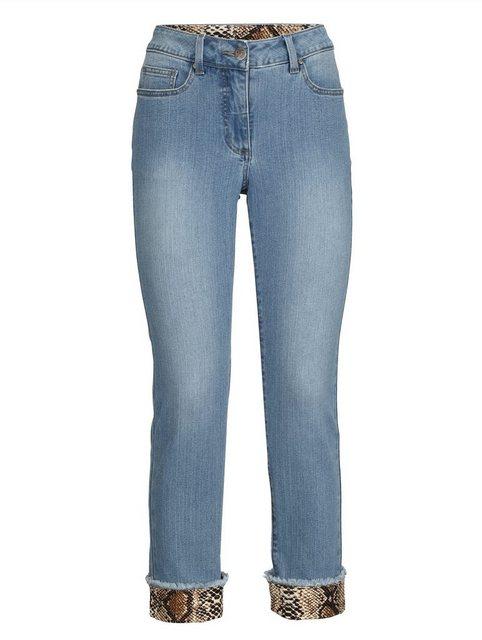 Hosen - Amy Vermont Jeans mit bedrucktem Umschlag am Saum › blau  - Onlineshop OTTO
