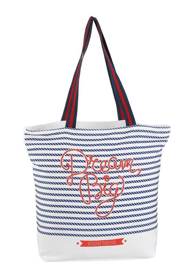 fabrizio® -  Strandtasche, in maritimen Desing, perfekt für den Strand