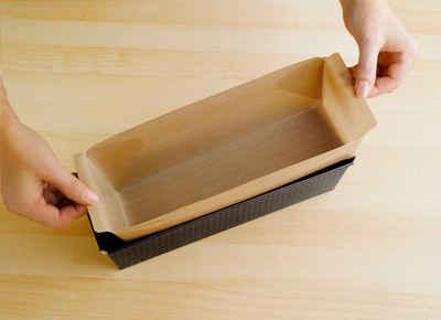 WENKO Backpapier »Antihaft-Backform-Zuschnitt«, mit Antihaft-Beschichtung, Set bestehend aus 1x rund, 1x eckig