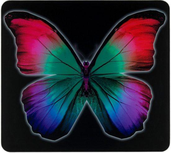 WENKO Herd-Abdeckplatte »Butterfly by Night«, Glas, Silikon
