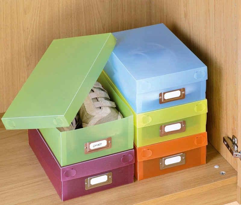 WENKO Aufbewahrungsbox (Set, 5 Stück), mit Beschriftungsfeld