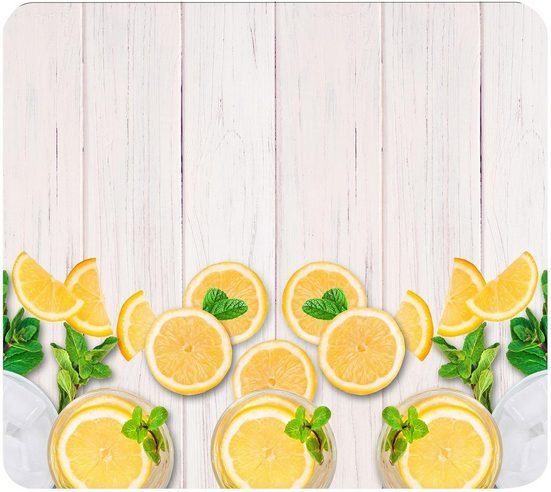 WENKO Herd-Abdeckplatte »Zitronen«, Glas, Silikon