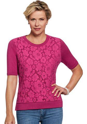 LADY Пуловер с Spitzen-Lage