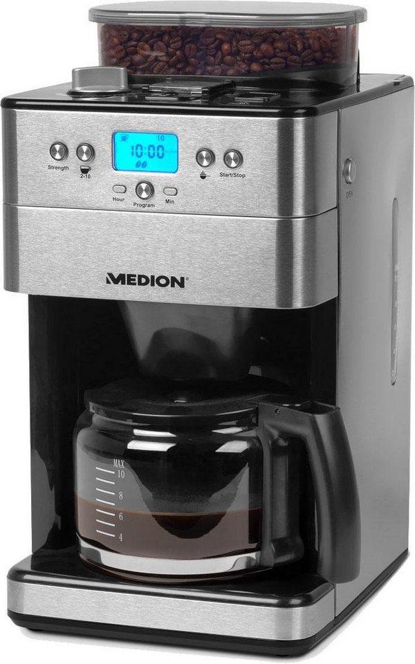medion kaffeemaschine mit mahlwerk md 16893 50056239 1 25l kaffeekanne permanentfilter 1x4