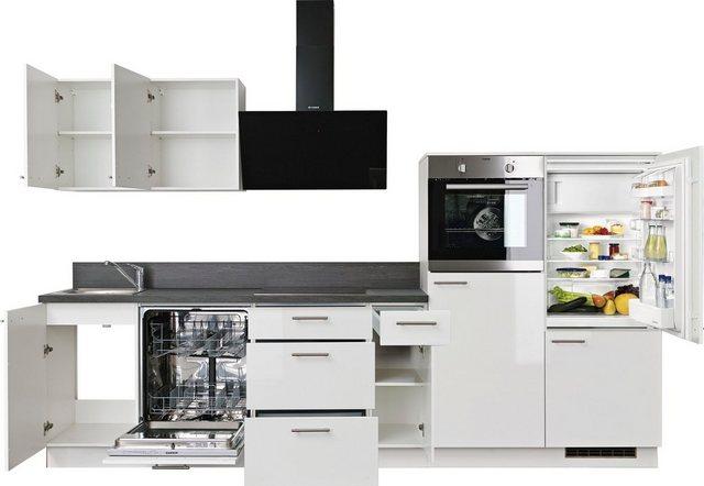 Einbauküchen - Express Küchen Küchenzeile »Scafa«, mit E Geräten, vormontiert und mit Soft Close Funktion, Stellbreite 320 cm  - Onlineshop OTTO