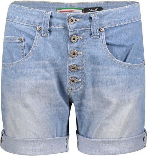 Please Jeans Jeansbermudas »P88A« mit sichtbarer Button-Fly Leiste vorn