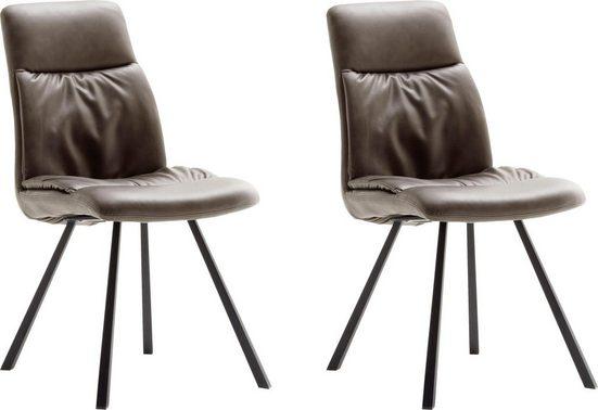 MCA furniture 4-Fußstuhl »Oxford« 2er-Set, Stuhl belastbar bis 120 Kg