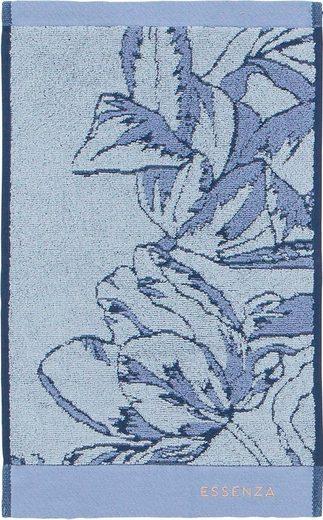 Essenza Gästehandtuch »Malou« (3-St), mit floralem Muster