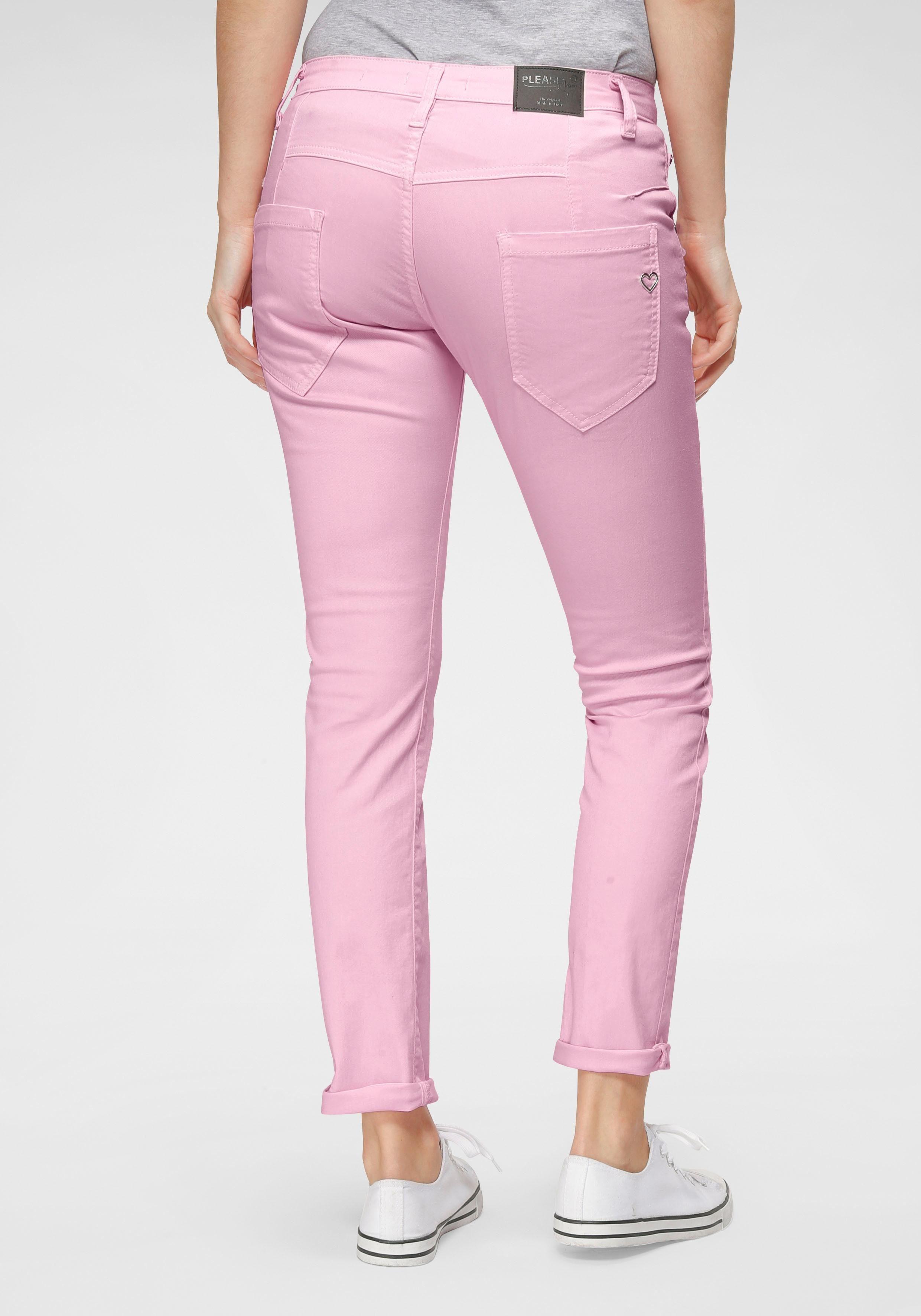 Please Jeans 7//8-Jeans P36H Boyfriend-Fit Crinkleoptik Blue Denim 1670 Neu