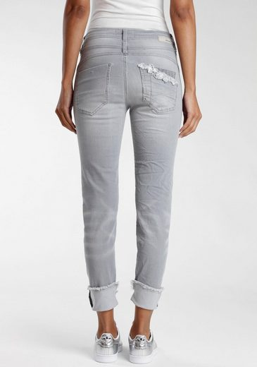 GANG Ankle-Jeans »Amelie« mit coolem Umschlagsaum und ausgefranster Kante