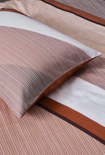 Wendebettwäsche »Robbin«, Essenza, mit diagonalen Streifen