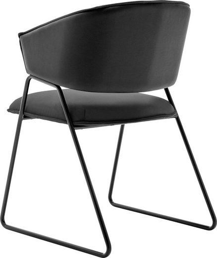 GWINNER Esszimmerstuhl »Style« (1 Stück), Bezug Leder schwarz