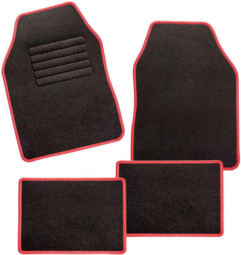 CarFashion Universal-Fußmatten »Misano« (4 Stück), Kombi/PKW, mit Glanzgarn