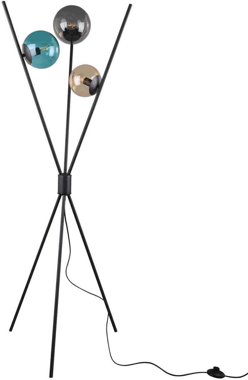 TRIO Leuchten Stehlampe »Lance«, Fußschalter, Leuchtmittel tauschbar