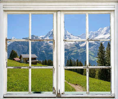 queence Wandsticker »Hütte in den Bergen«