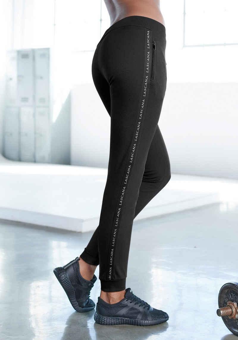 LASCANA ACTIVE Jogginghose mit Reißverschlusstaschen