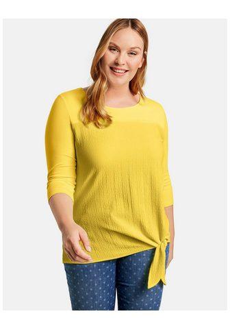 SAMOON Marškinėliai 3/4 rankovės apvalia iški...