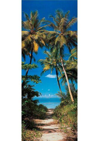 Papermoon Fototapetas »Beach Path - Türtapete« m...