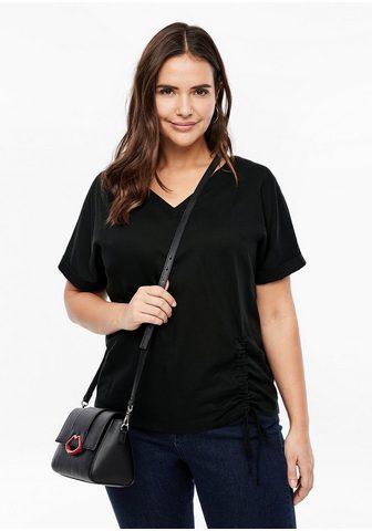 Batist/Jersey-T-Shirt