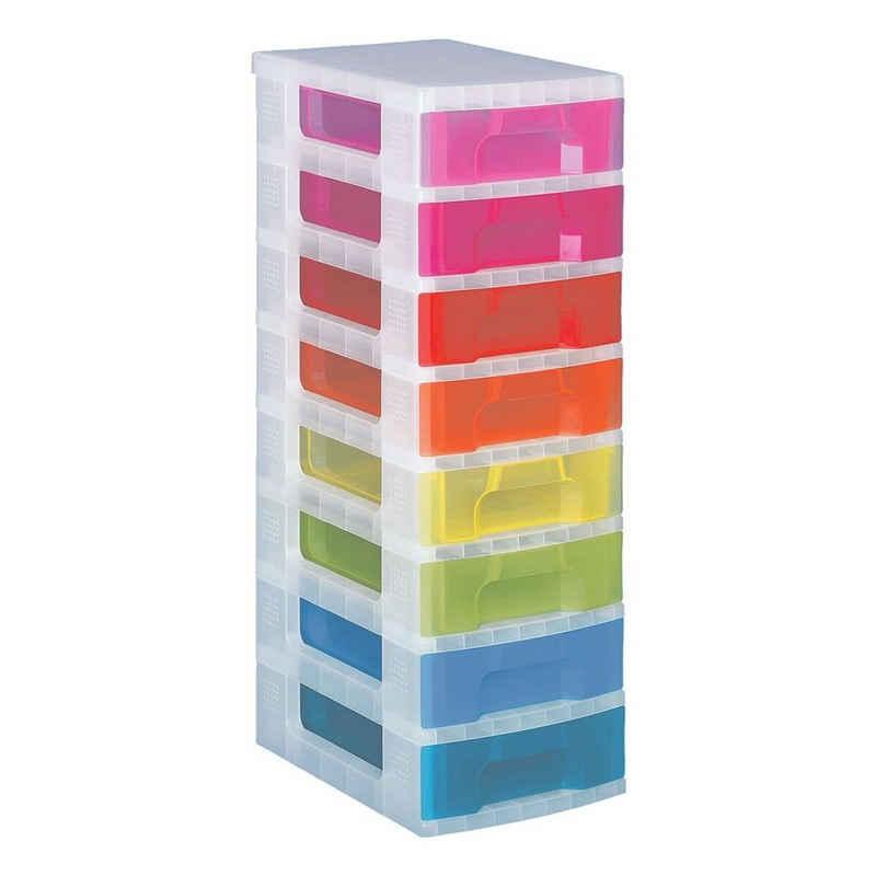 REALLYUSEFULBOX Aufbewahrungsbox »Fresh Colour«, mit Schubladen, Beschriftungsfeldern und Rollen