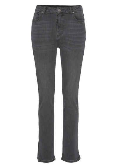 Vivance Regular-fit-Jeans mit Schlitz am Saum