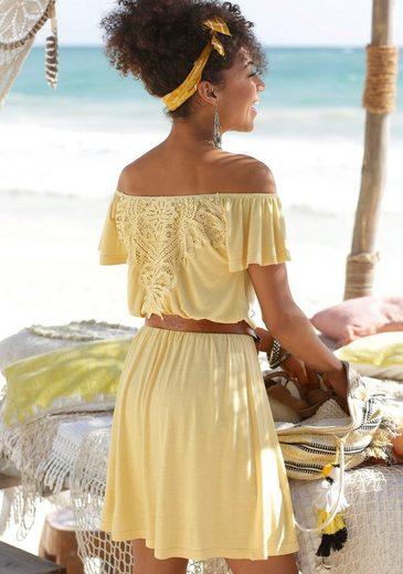 Buffalo Sommerkleid mit Häkelspitze hinten