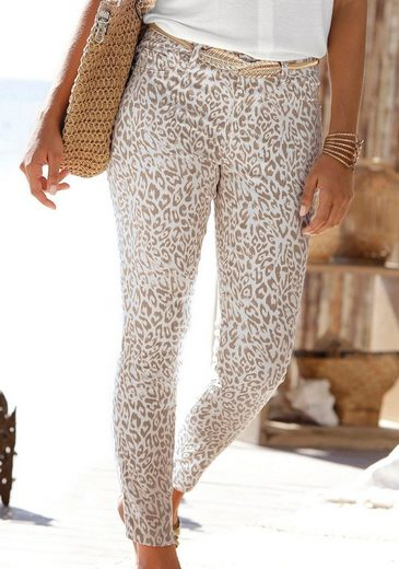 LASCANA 7/8-Jeggings mit Leopardenprint