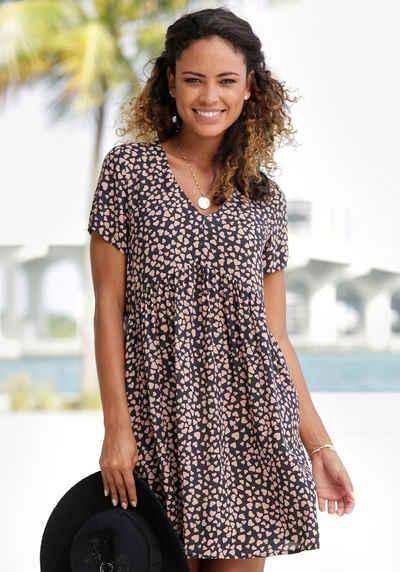 LASCANA Blusenkleid mit Herzchenprint