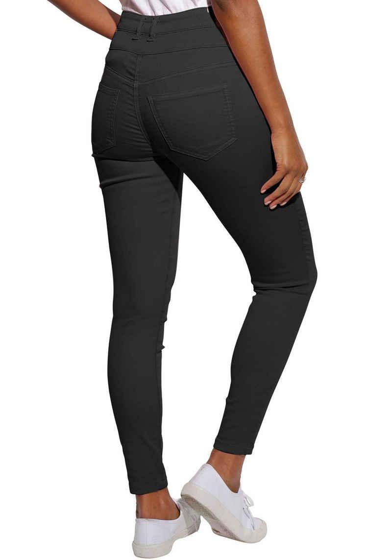 LASCANA High-waist-Jeans aus Superstrech-Qualität