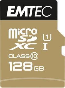 EMTEC »microSD UHS-I U1 EliteGold« Speicherkarte (128 GB, Class 10, 85 MB/s Lesegeschwindigkeit)