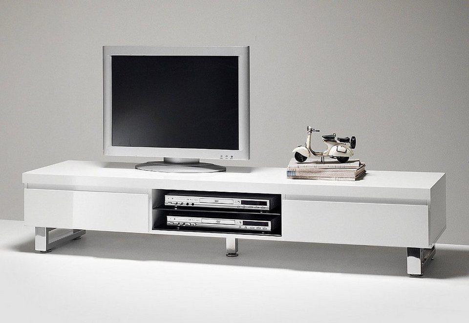 Lowboard in weiß/grau
