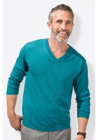 Classic пуловер с V-образным вырезом в...
