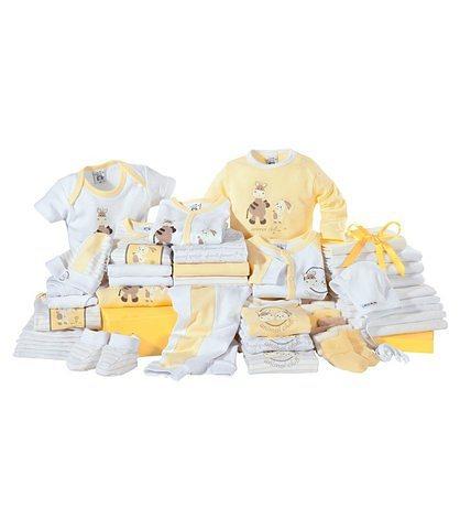 Klitzeklein Erstausstattungspaket (Set, 42-tlg.), für Babys in Gelb-Weiß