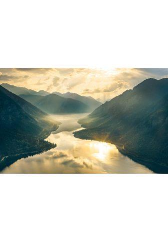 KOMAR Fototapetas »Gold Mountains« Bahnbreit...