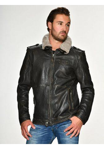 Куртка кожаная с съемный Lammfellkrage...