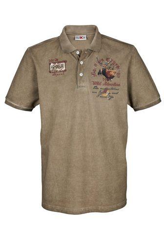 ROGER KENT Polo marškinėliai in oil- washed imita...