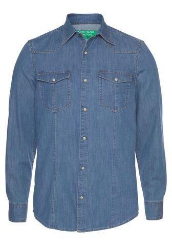 UNITED COLORS OF BENETTON Džinsiniai marškinėliai