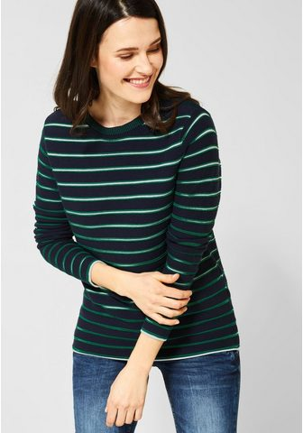 CECIL Dryžuotas megztinis