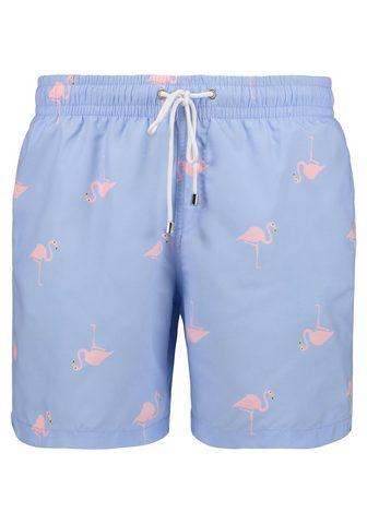 EAST CLUB LONDON Maudymosi šortai su Flamingo-Print