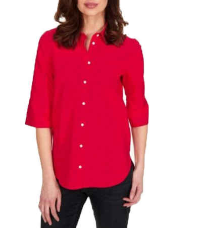 Van Laack Hemdbluse »van Laack Casidy Blusen-Hemd knallige Damen Langarm-Bluse mit Kragen Sommer-Bluse Rot«