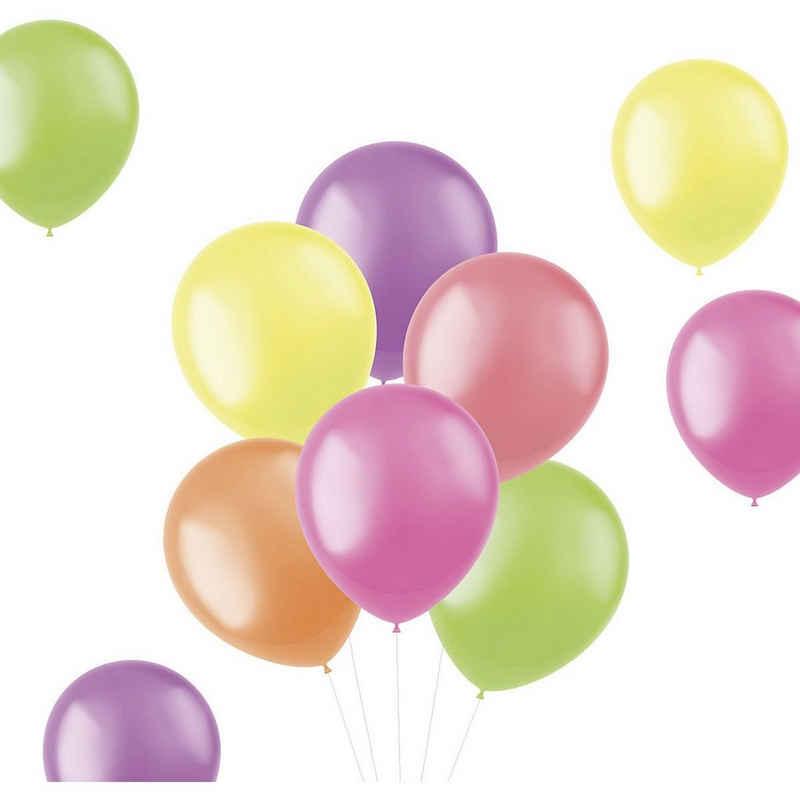 Folat Luftballon »Luftballons Bright Neons 30 cm, 50 Stück«